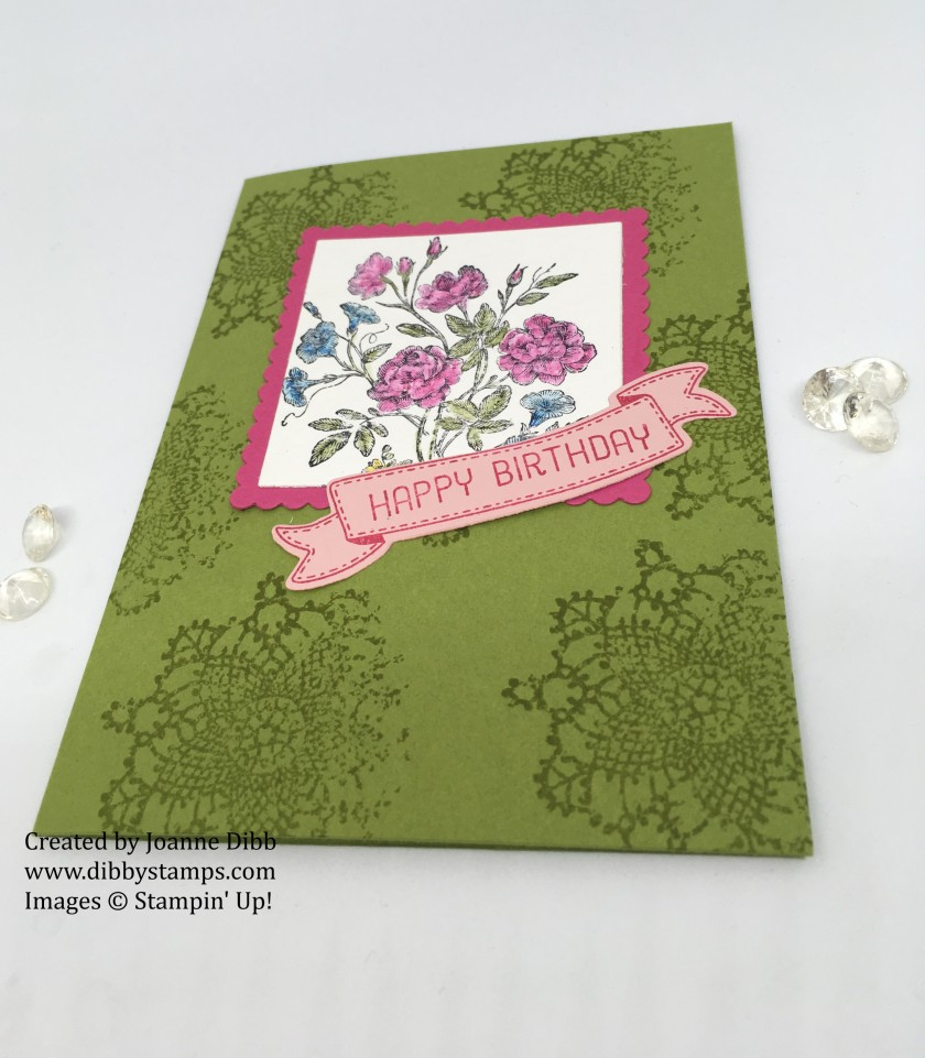 Very Vintage Birthday Card flat