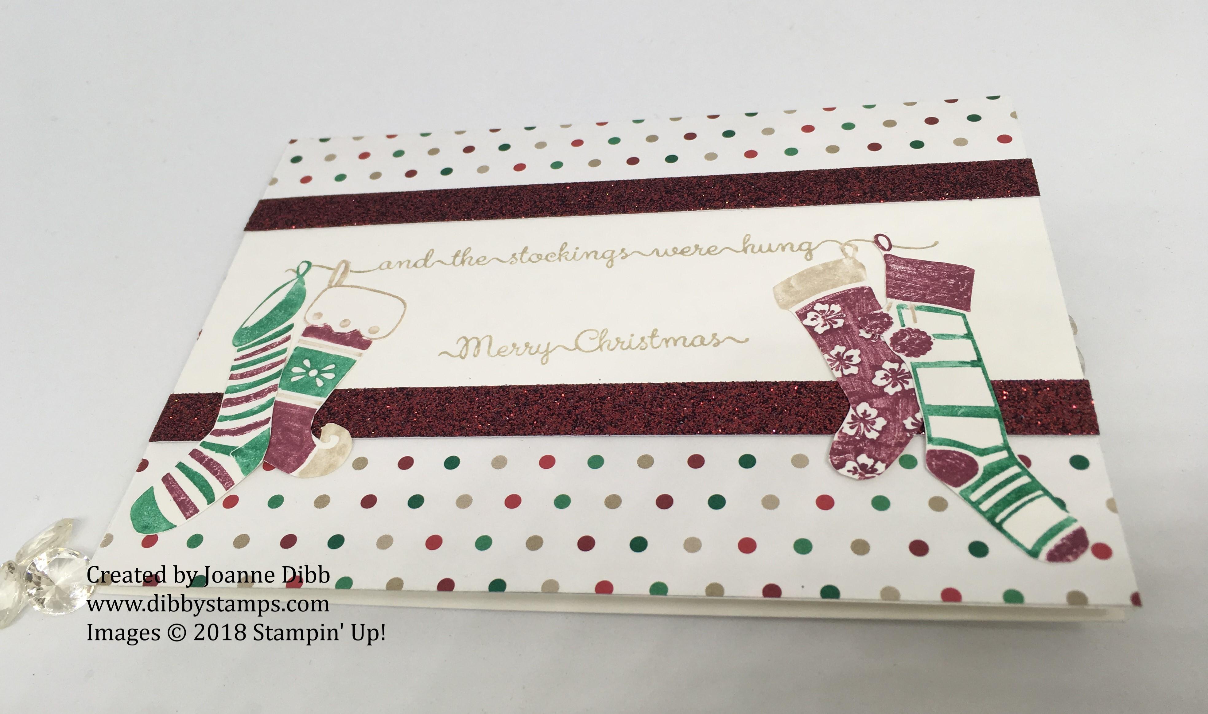 hanging stockings card flat
