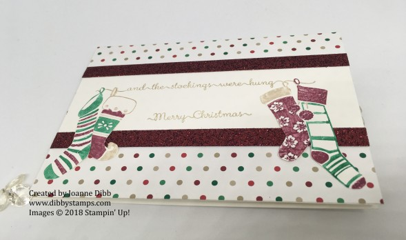 hanging stockings card flat