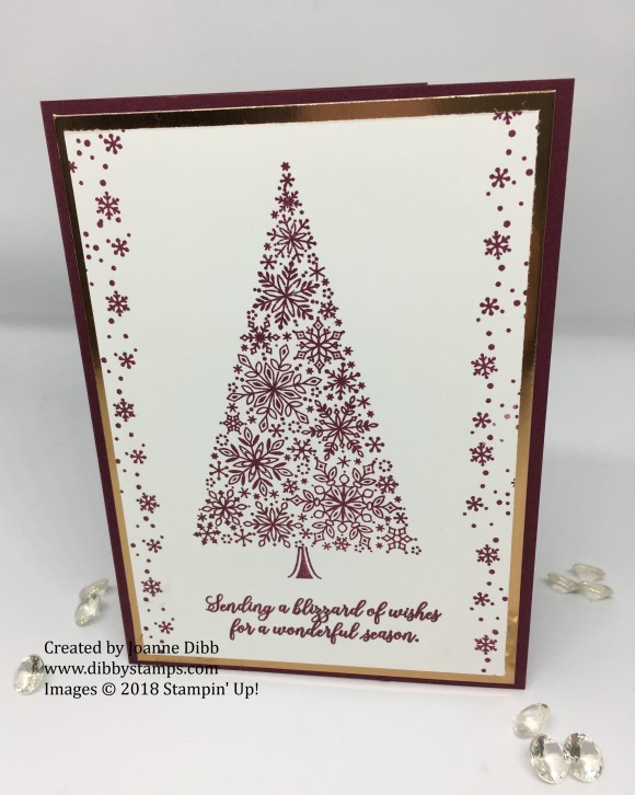 merry merlot snowflake showcase card 1