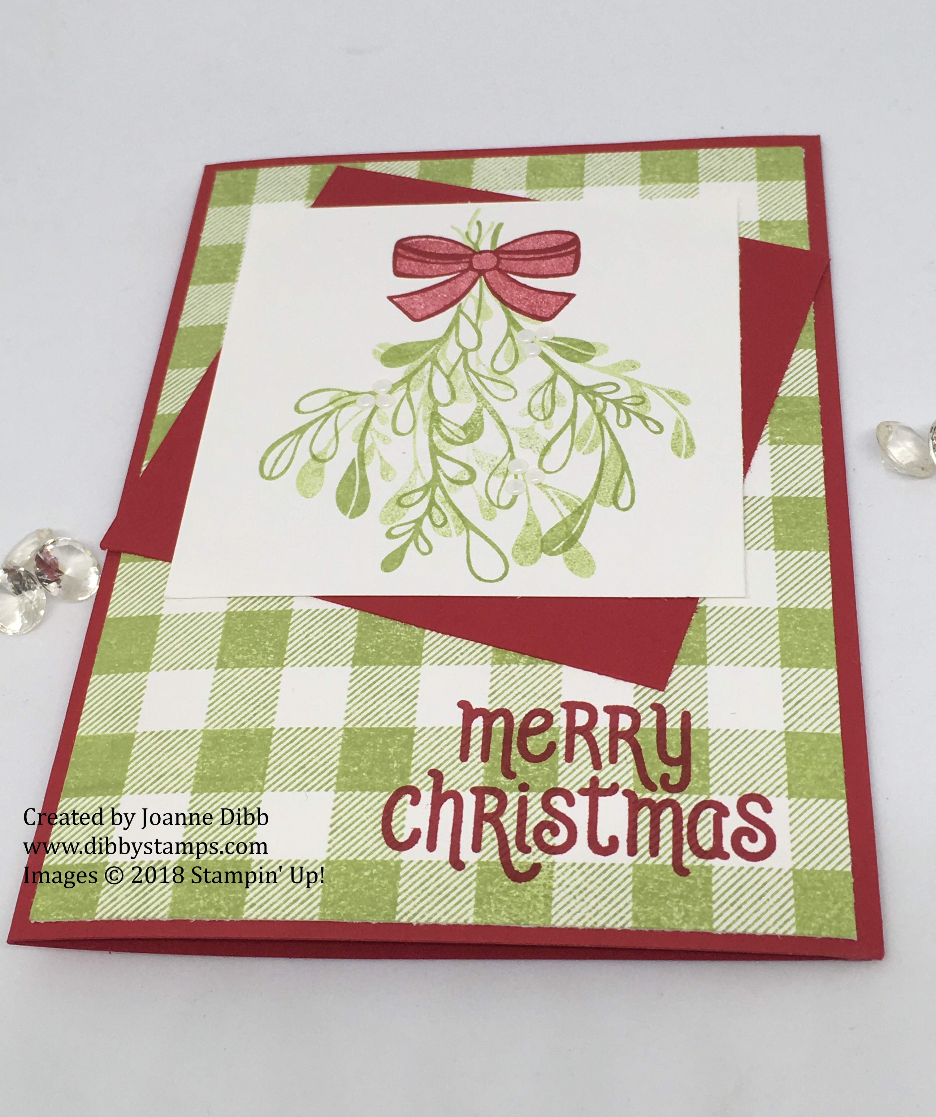 Mistletoe Season Card flat