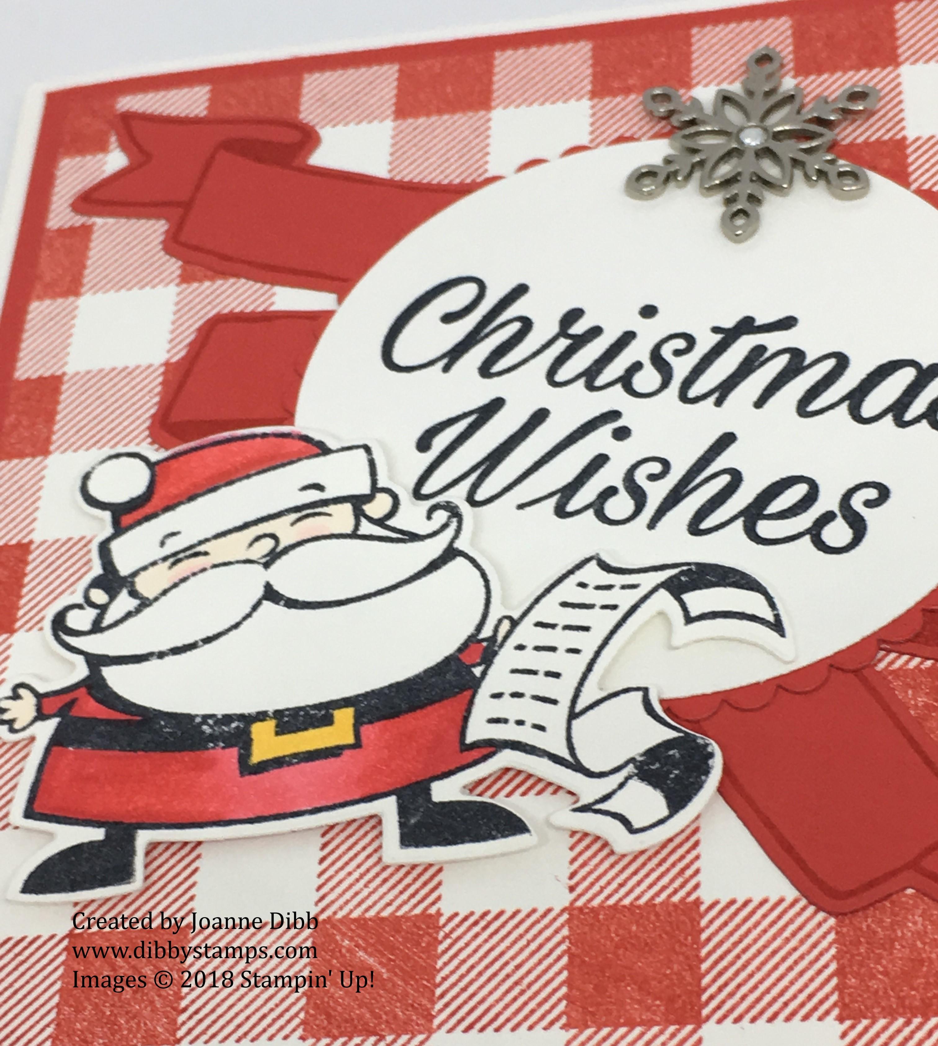 Poppy Parade buffalo Santa card close up