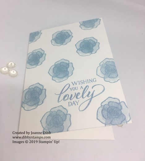 balmy blue forever lovely simple card flat