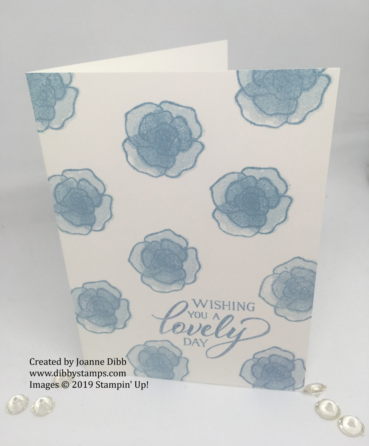 Simple Stamping – Balmy Blue Birthday Card