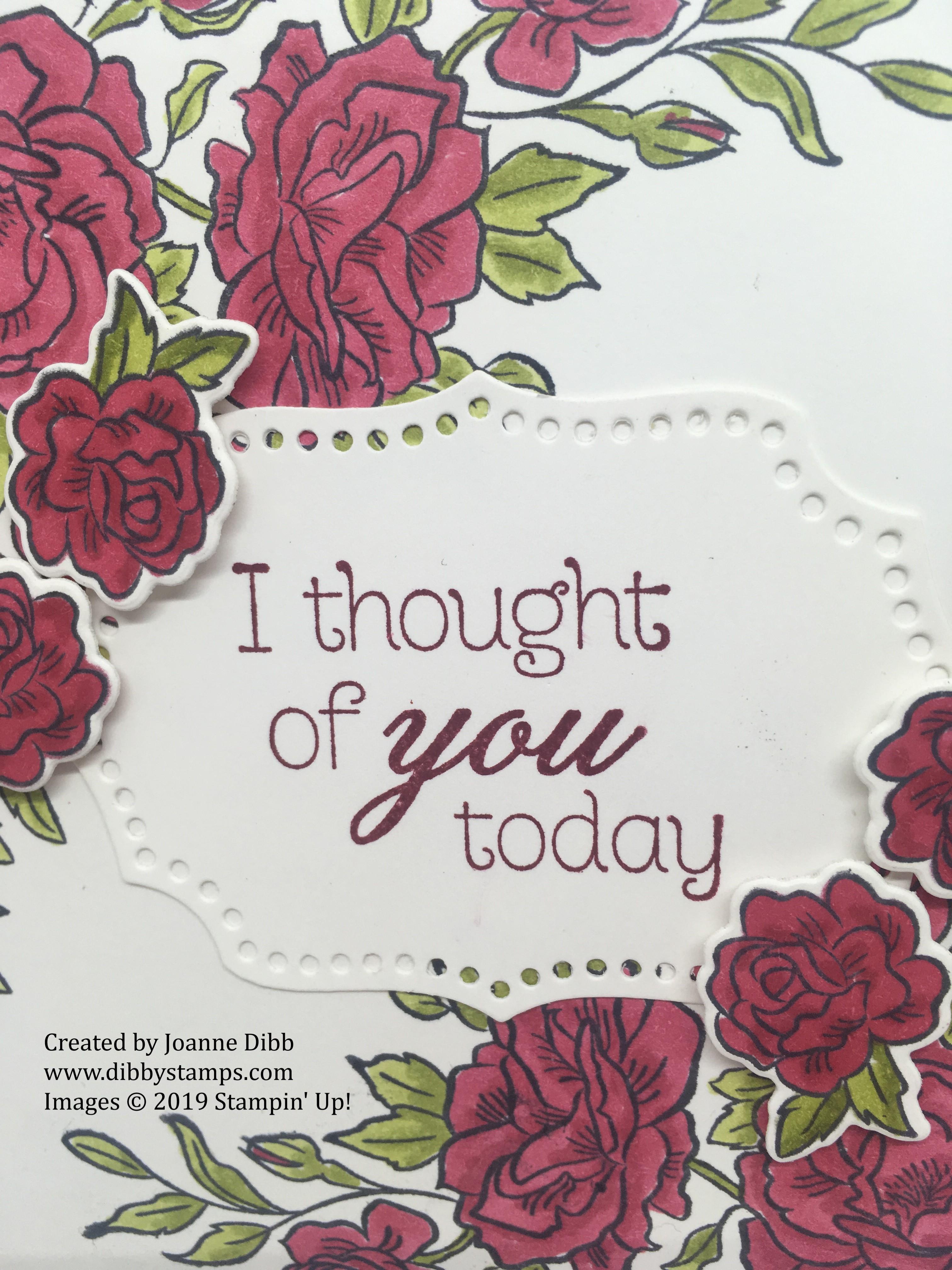 cherry cobbler climbing roses card