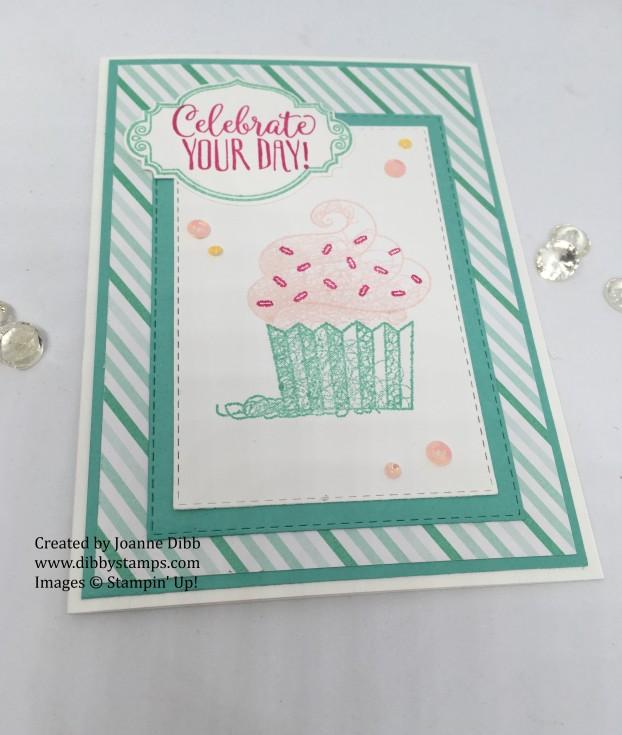 coastal cabana cupcake card flat