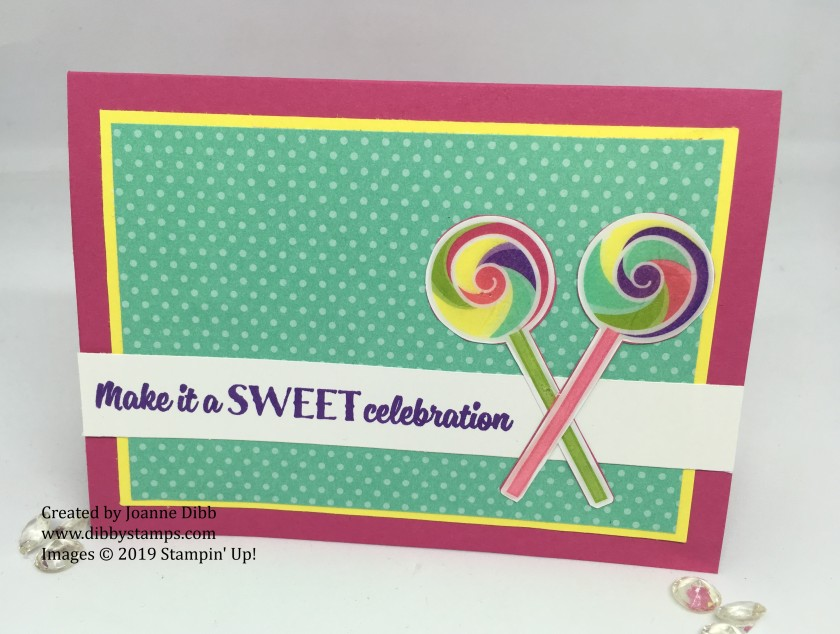 sweetest thing lollipop card