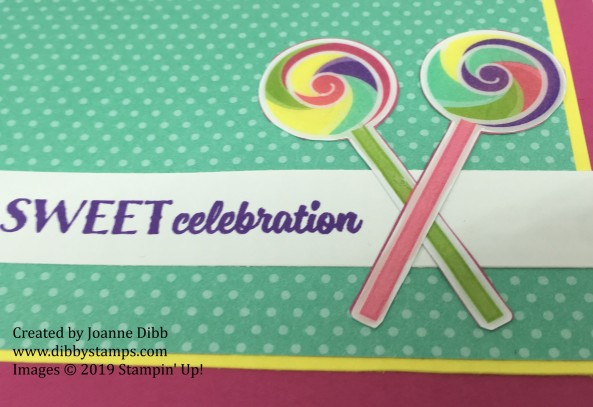 sweetest thing lollipop card close up