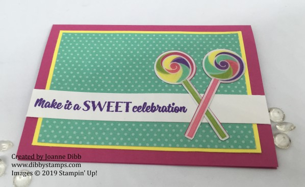 sweetest thing lollipop card flat