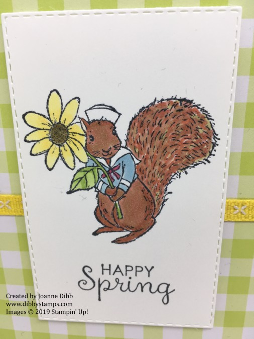 Fable Friends - Happy Spring Squirrel close up