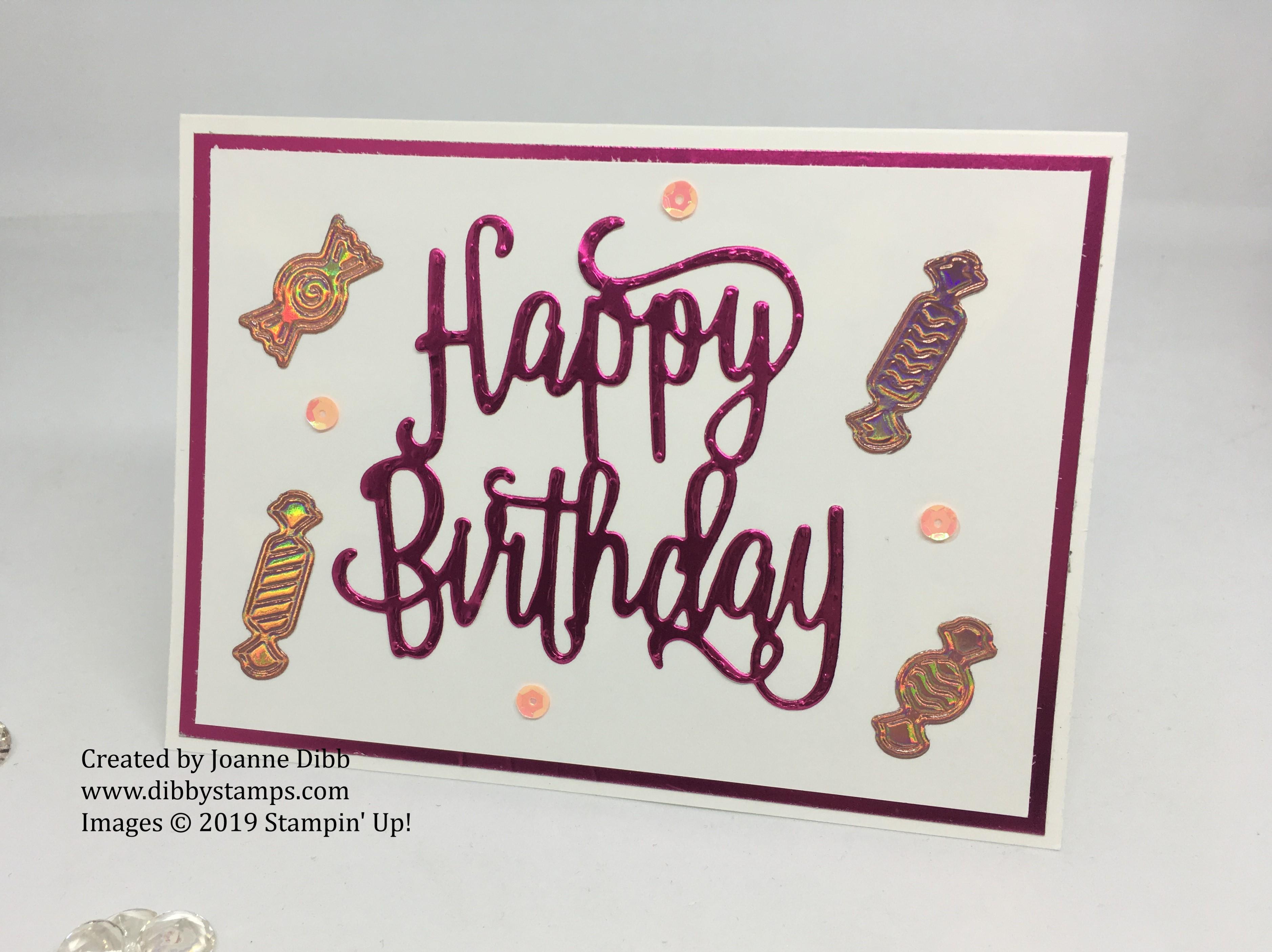 Foiled Happy Birthday Card -loveley lipstick
