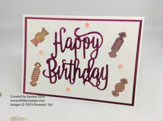 Foiled Happy Birthday Card -loveley lipstick