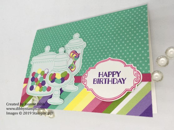Jar of Sweets Birthday Card - flat
