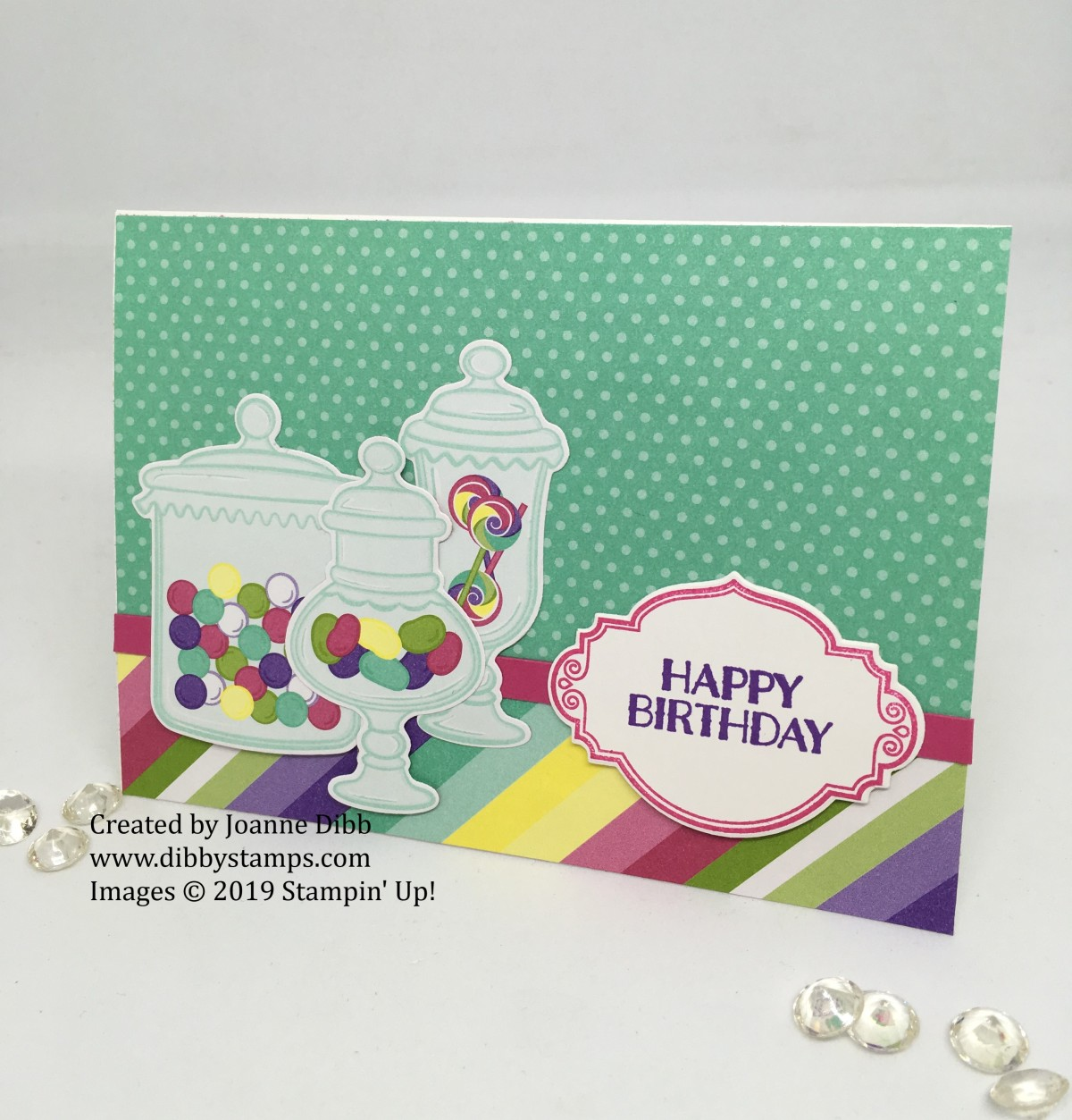 Jar  of Sweets Birthday Card