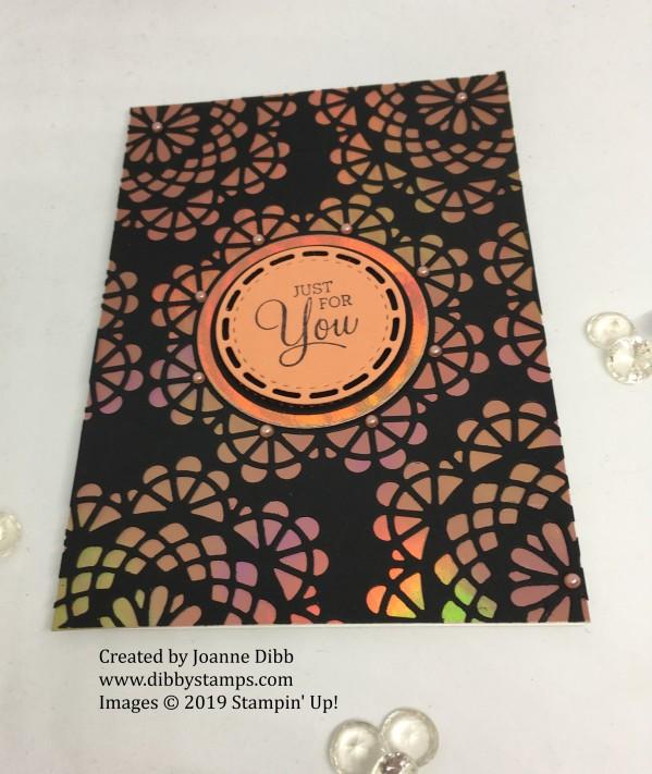 Fantastic Foil Doily card flat