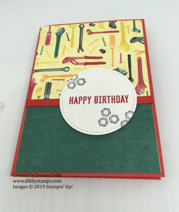 Geared Up Garage Birthday Card -flat