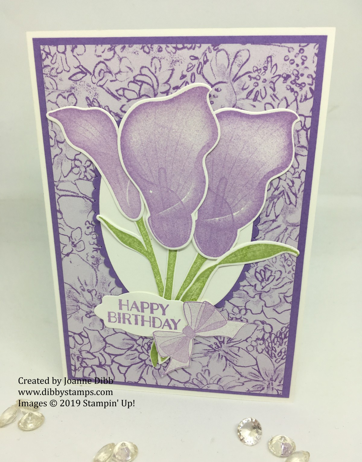 Floral Friday: Lasting Lily Birthday Card