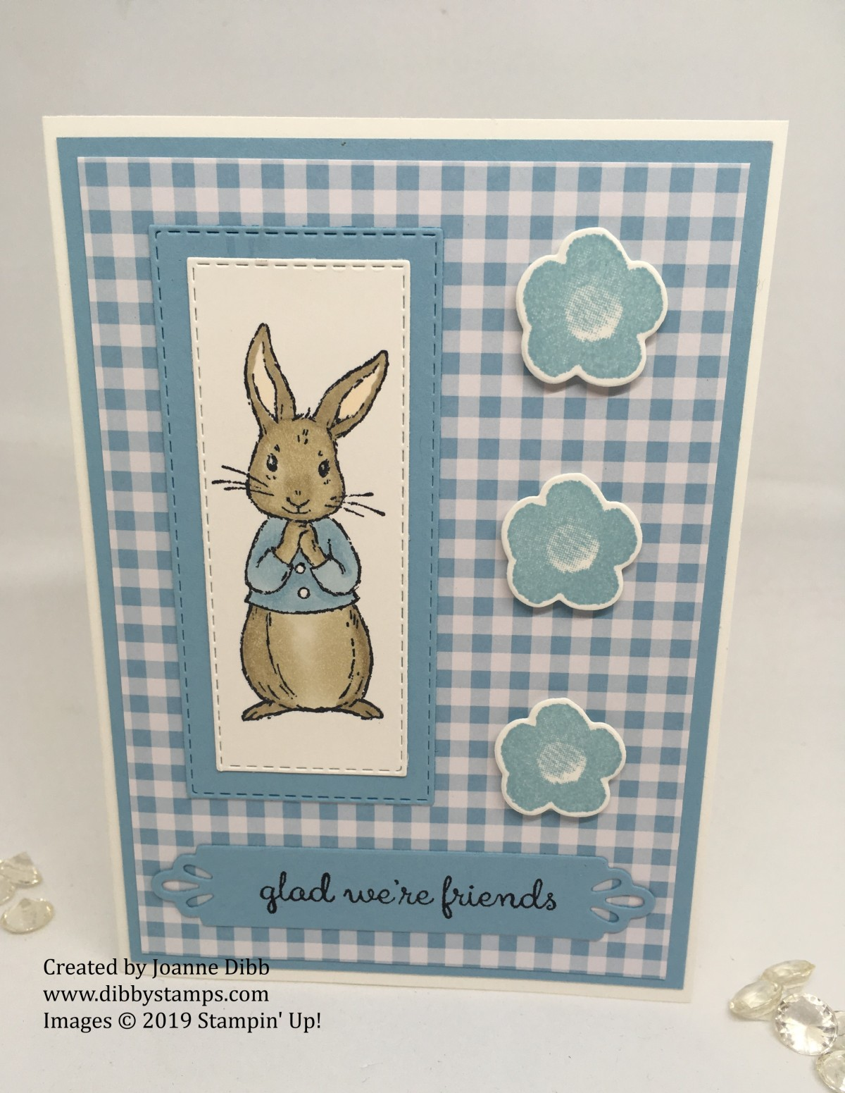 """""""Peter Rabbit"""" Inspired card with FableFriends"""
