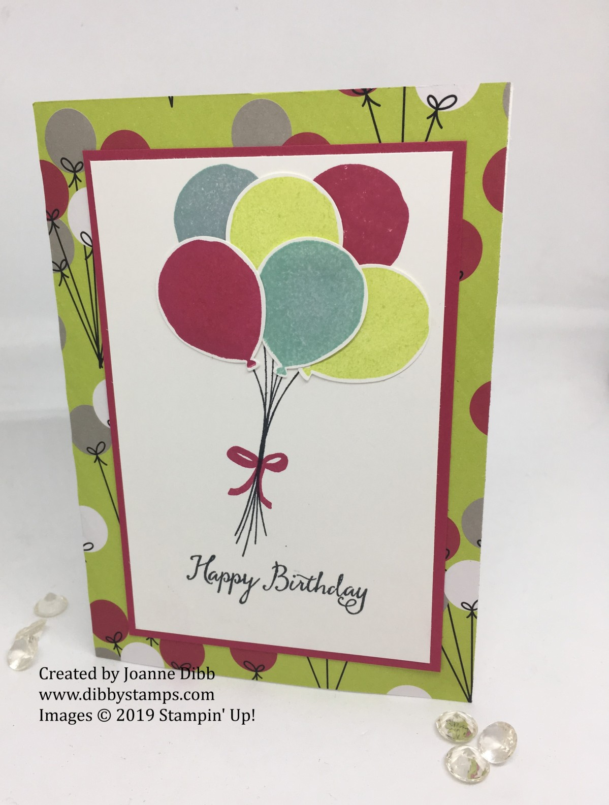 Balloon Celebration Birthday Card