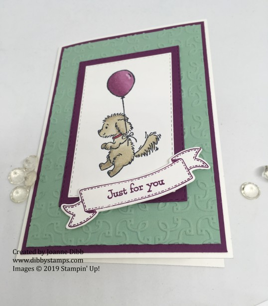 Bella and Balloon Card flat