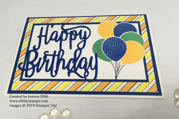 Blueberry Bushell Birthday card - flat