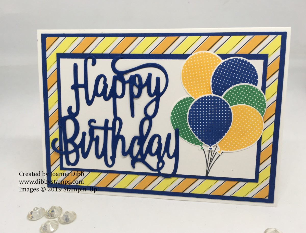 Blueberry Bushell Balloon Birthday Card