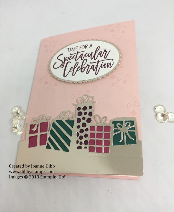 Powder Pink Parcel Birthday Card - flat