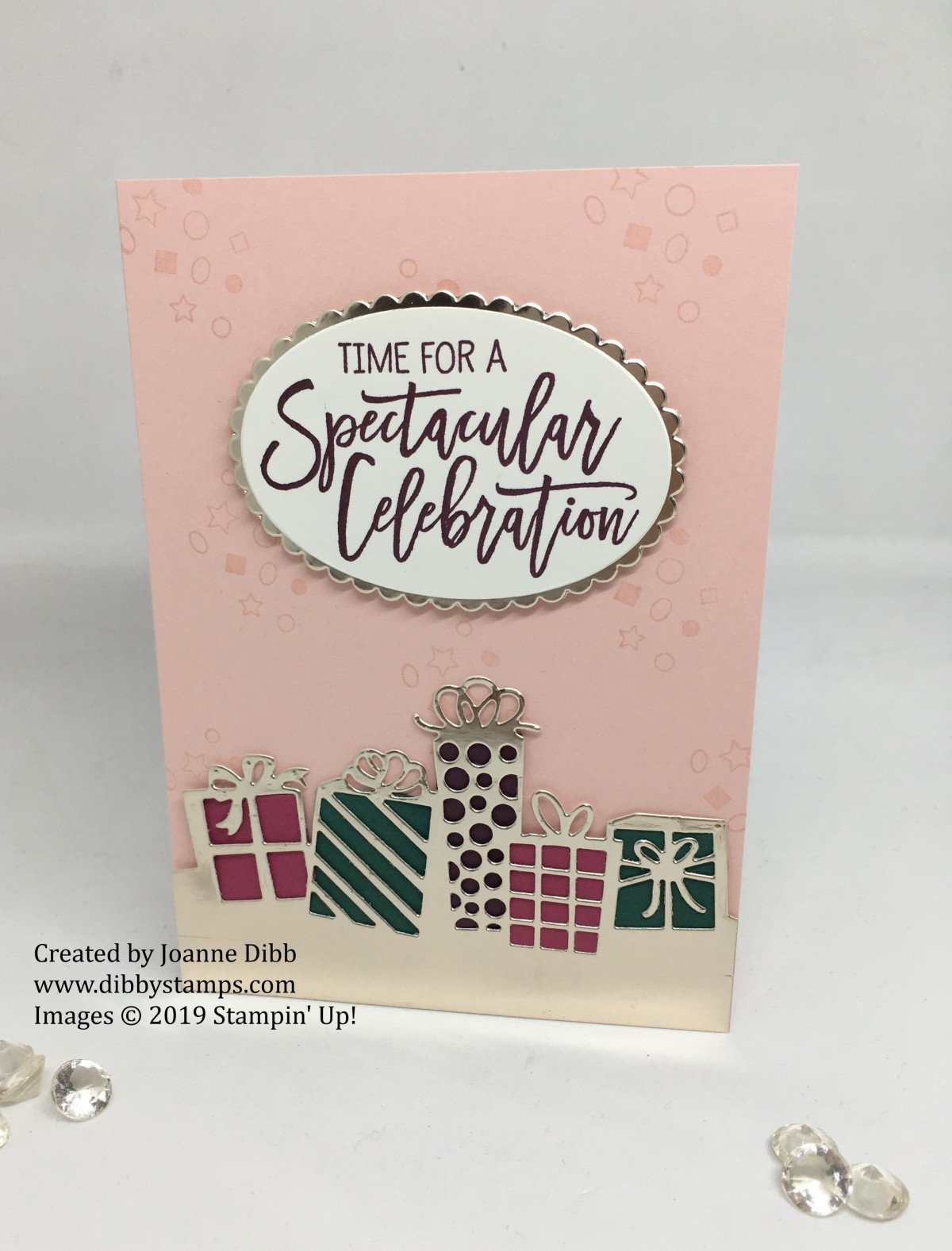 Powder Pink Parcel Birthday Card