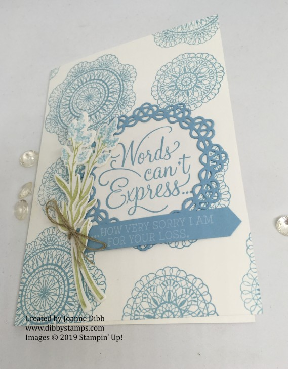 Sympathy Card with Dear Doily - flat