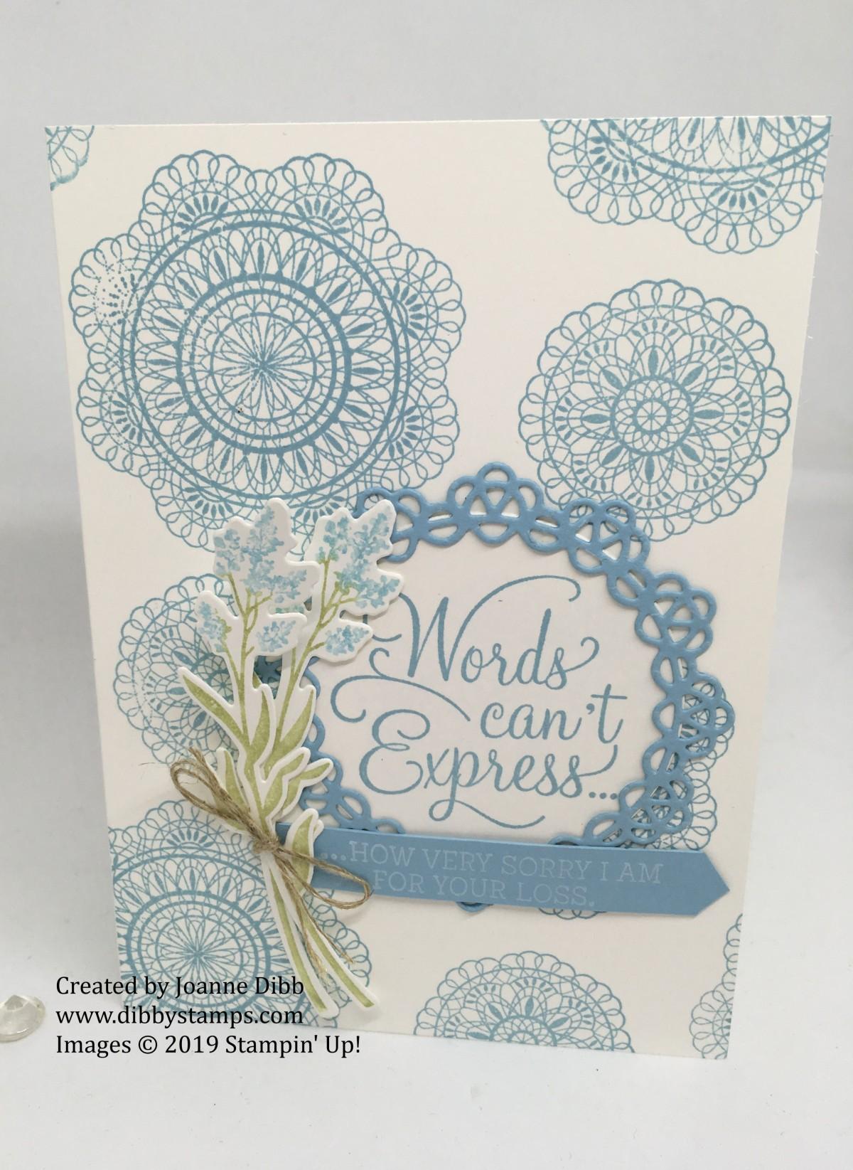 Sympathy Card with DearDoily