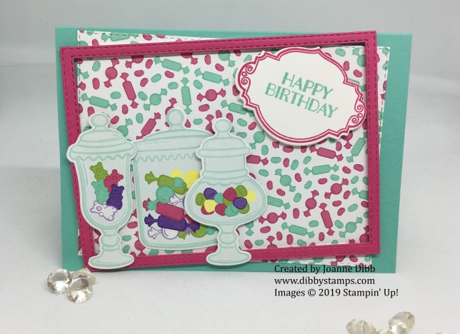 Framed Jar of Sweets birthday Card 1
