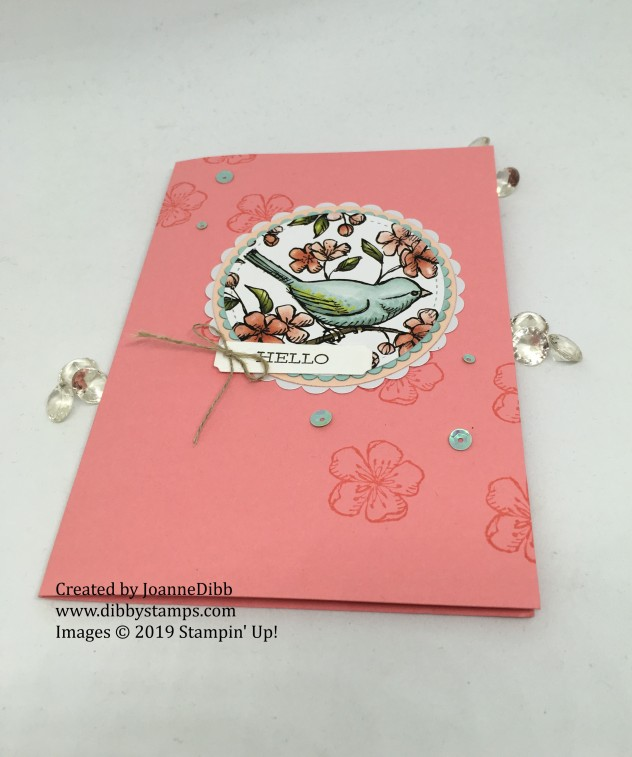 Flirty Flamingo Free as a Bird card - flat