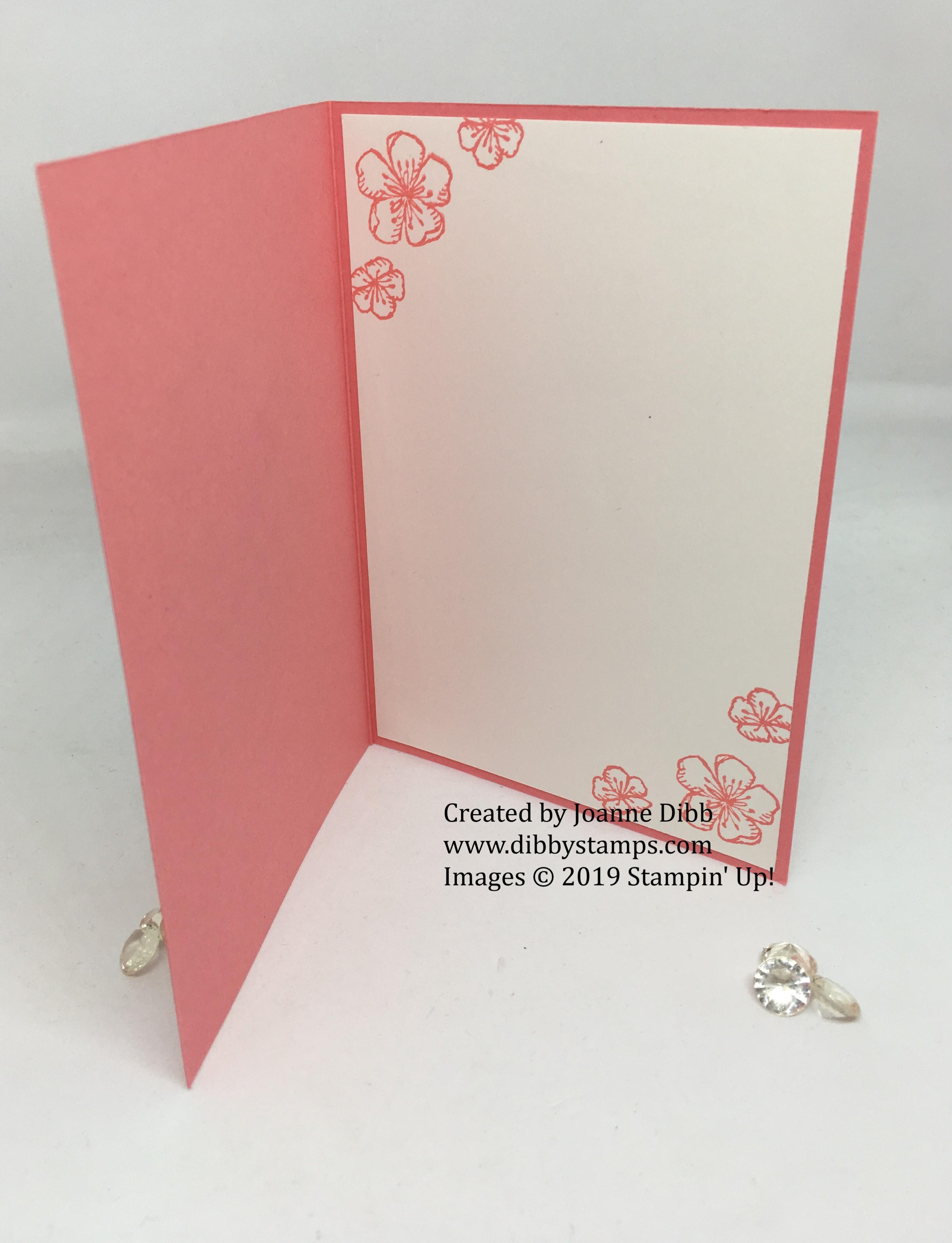 Flirty Flamingo Free as a Bird card - inside