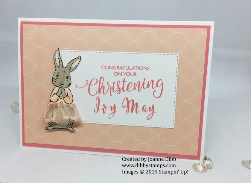 Baby Girl Christening Card