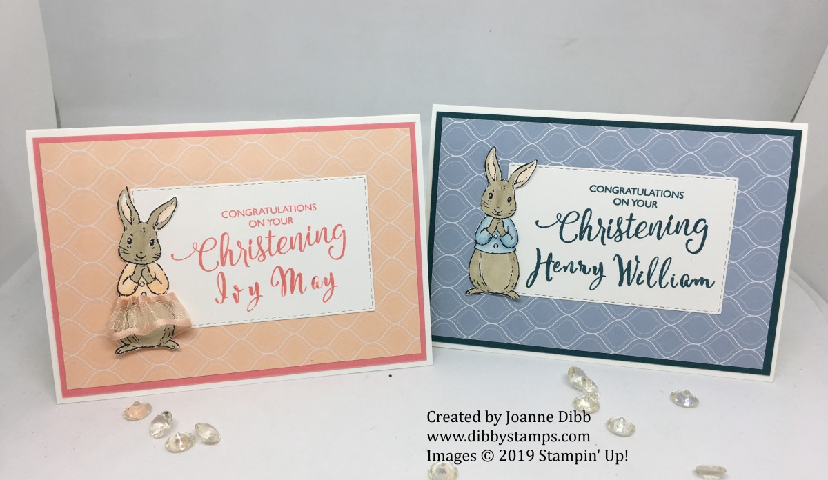 Christening Card Duo with Fable Friends