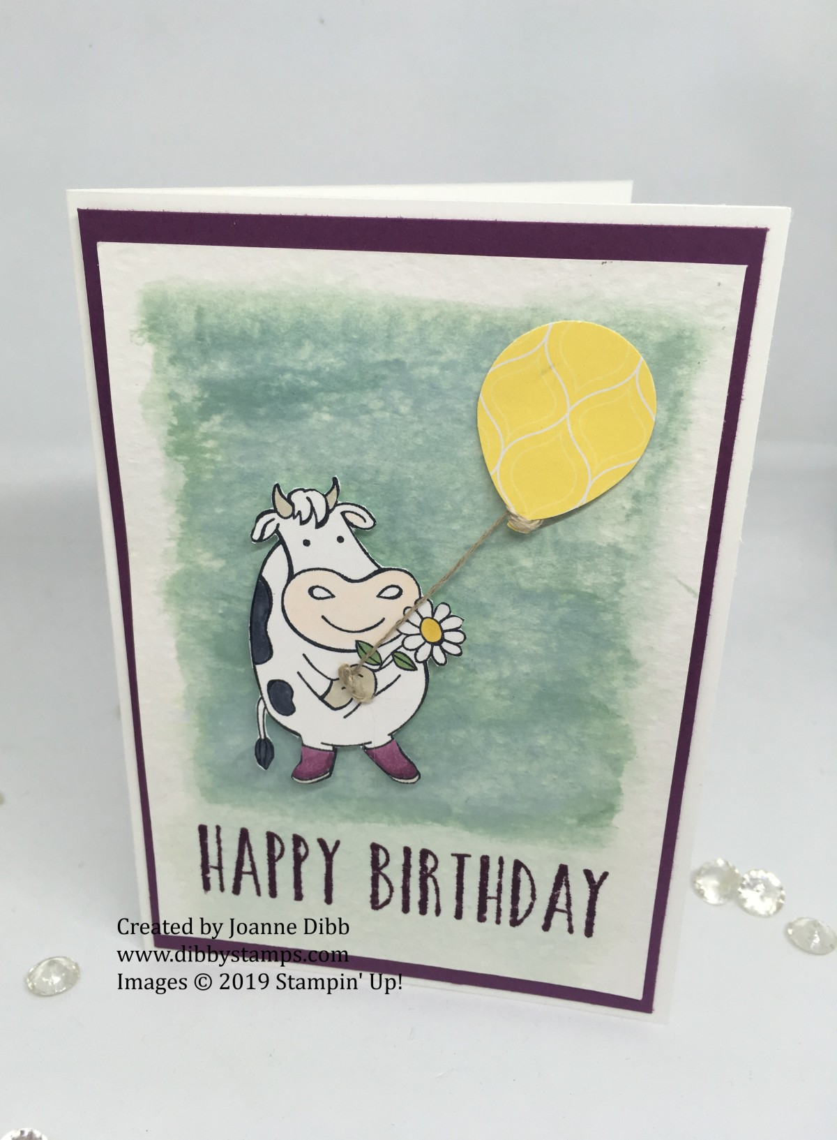 Over the Moon Birthday Card