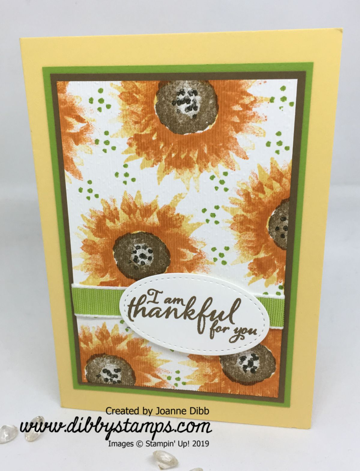 Autumnal Painted Harvest Card