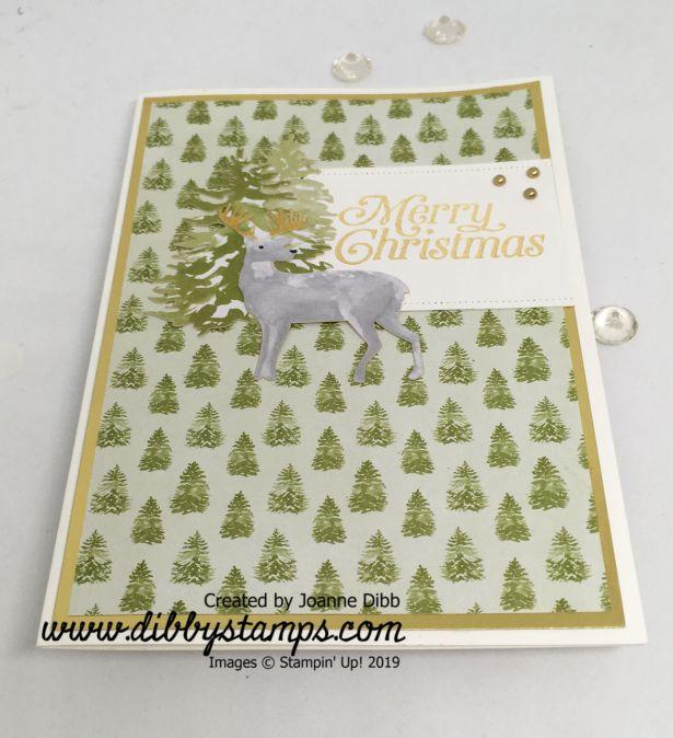 Christmas Tree Reindeer card flat