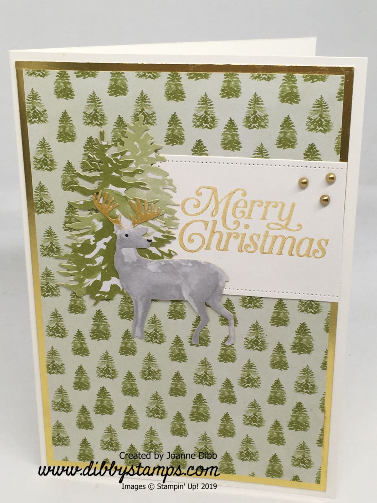Christmas Tree Reindeer Card with Most Wonderful Time Medley