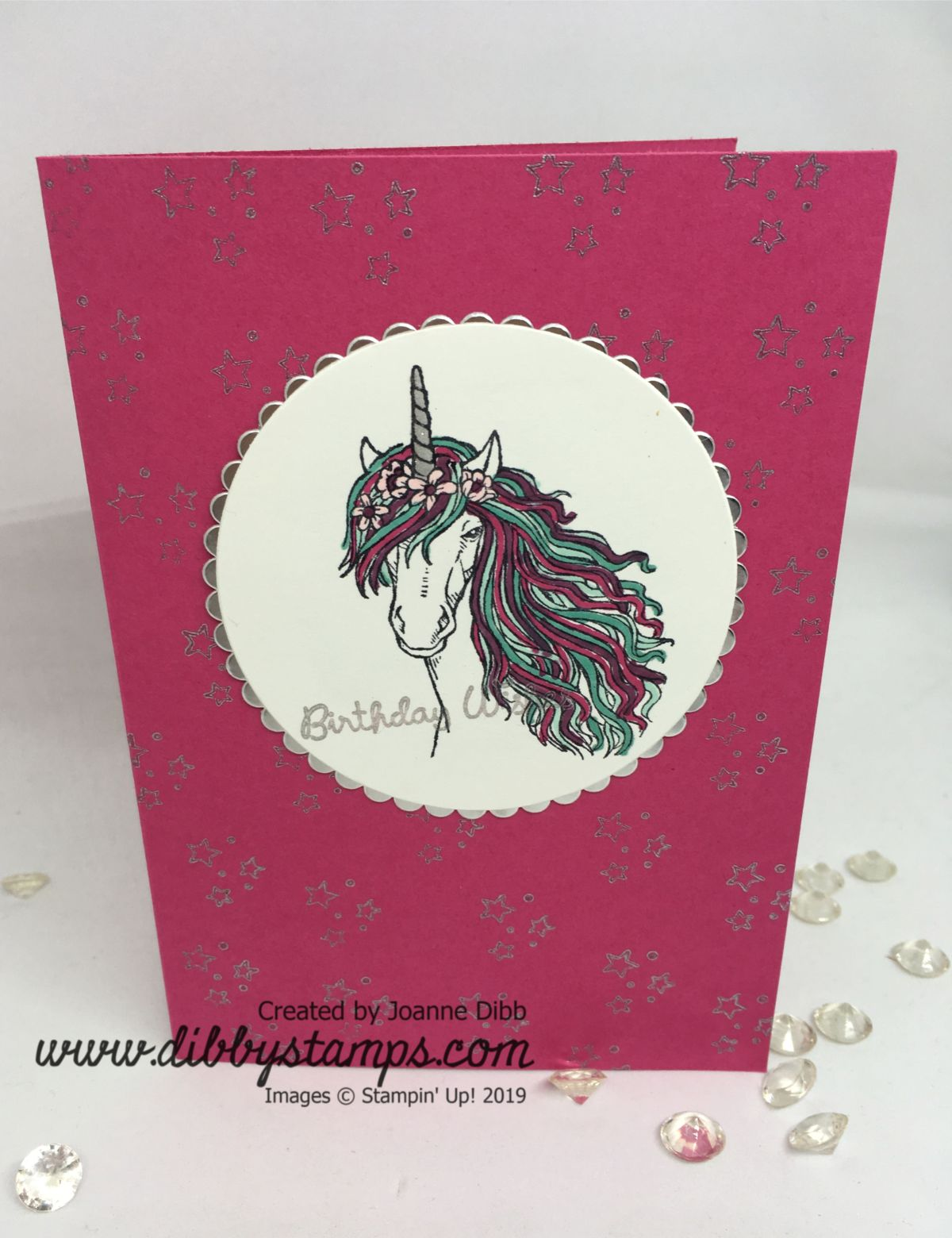 Leave A Little Silver Sparkle Card