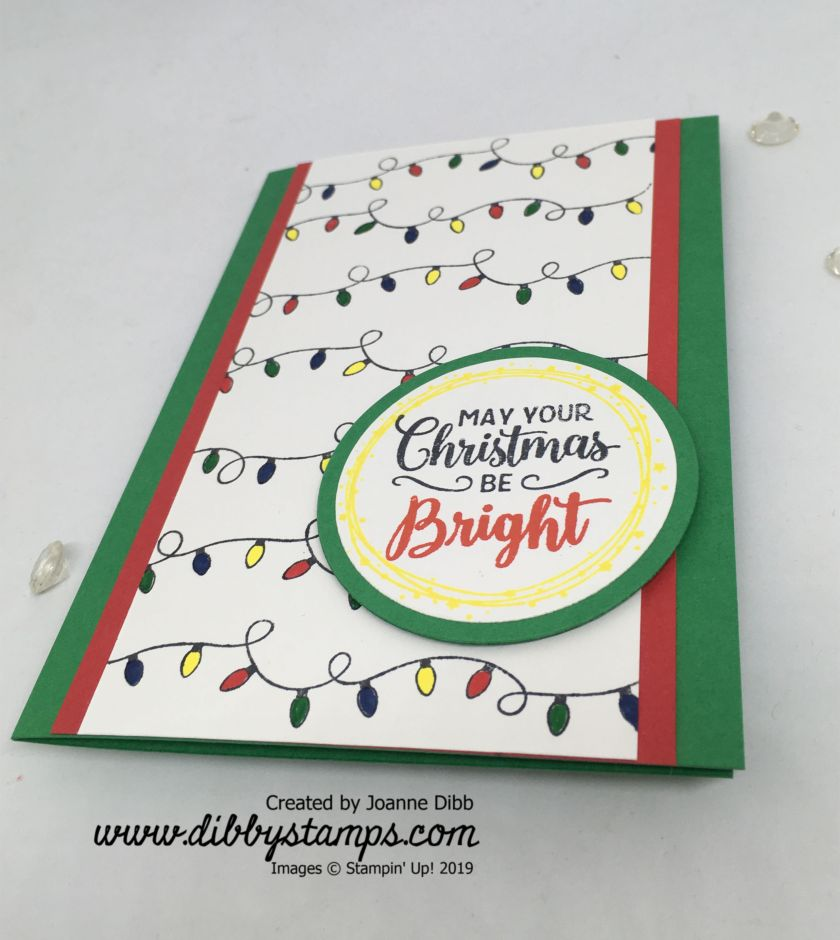 Merry & Bright Card flat