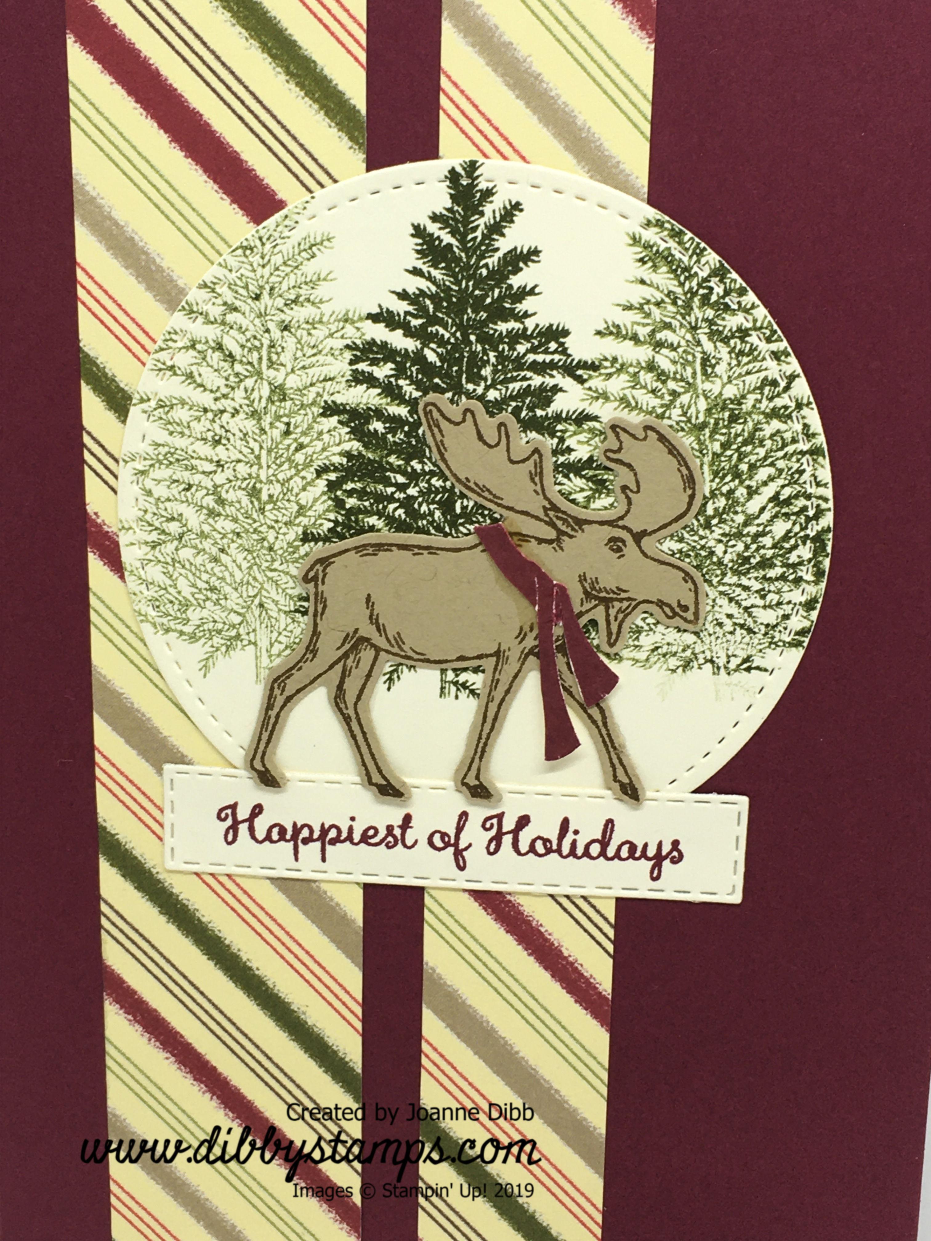 Merry Merlot Moose Card close up