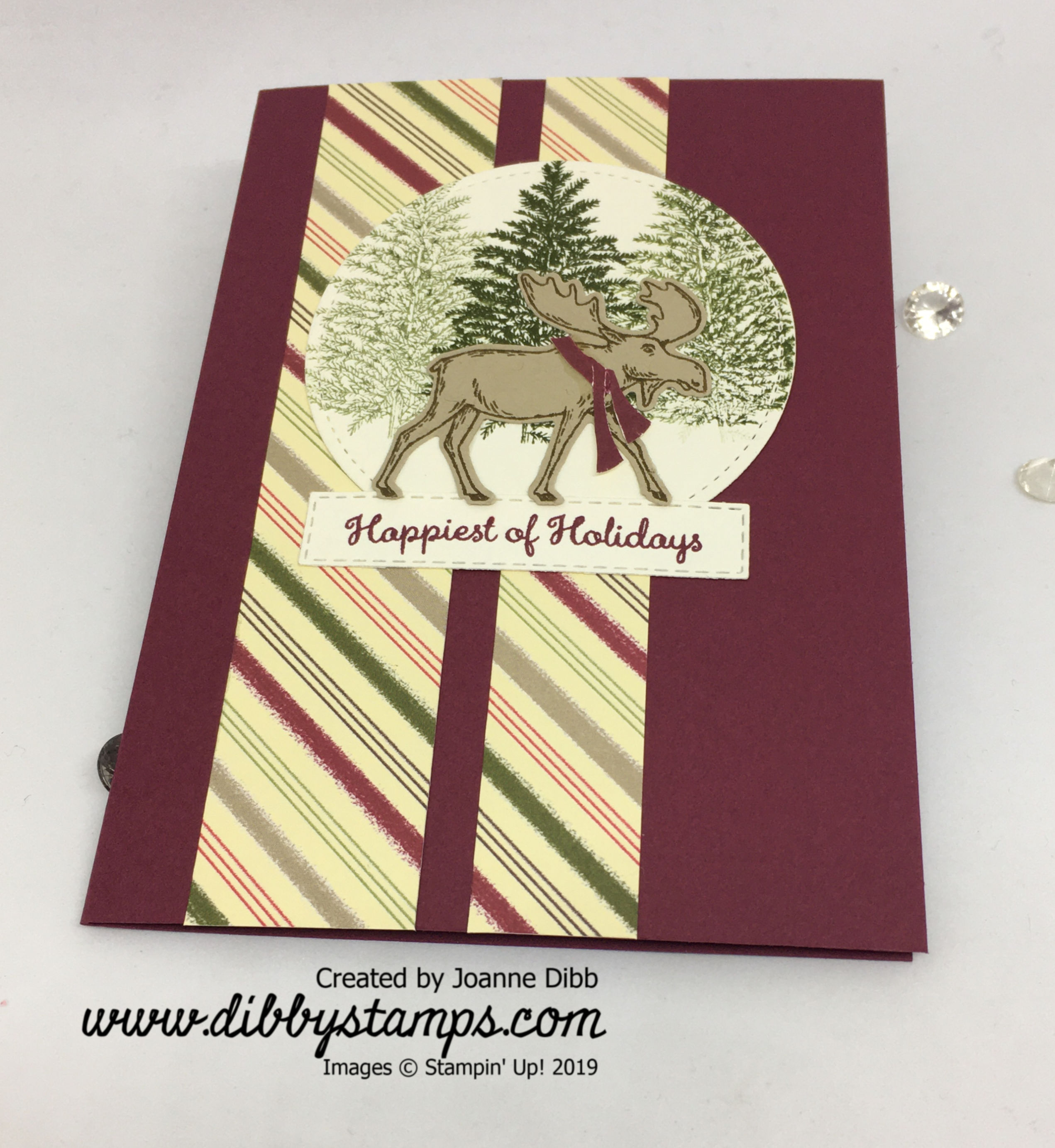 Merry Merlot Moose Card flat