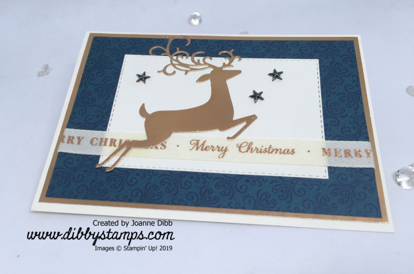 No Stamping Dashing Deer Card - flat