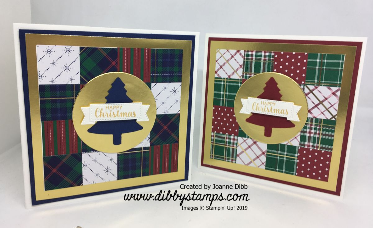 Patchwork Plaid Card Duo