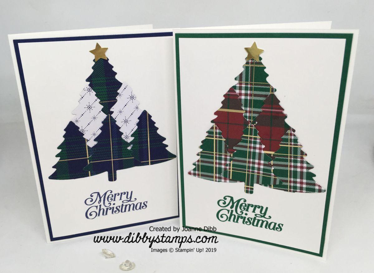 Pine Tree Punch Christmas Tree CardDuo