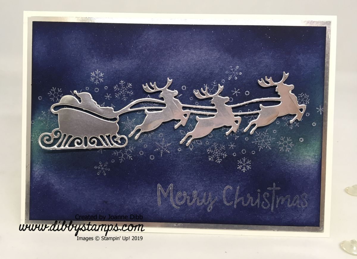 Santa's Sleigh in a Starry NightCard