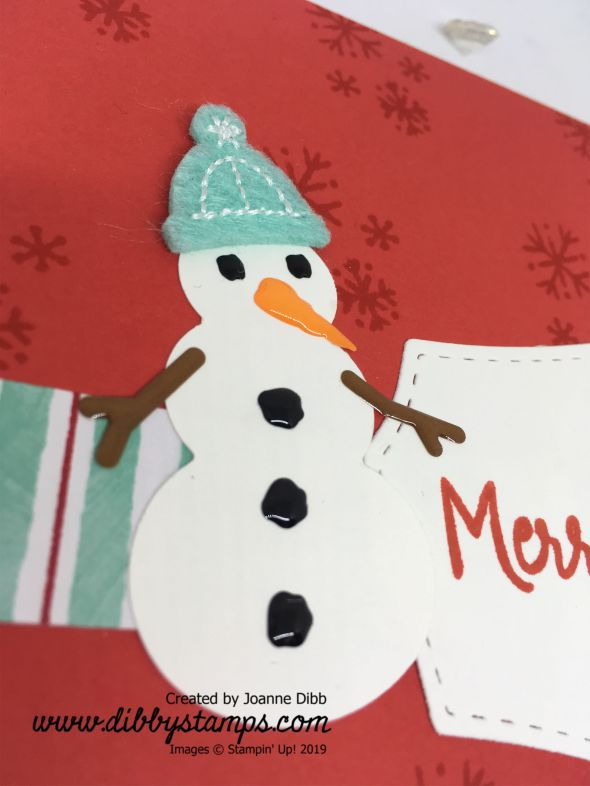 Simple Snowman Card Close Up
