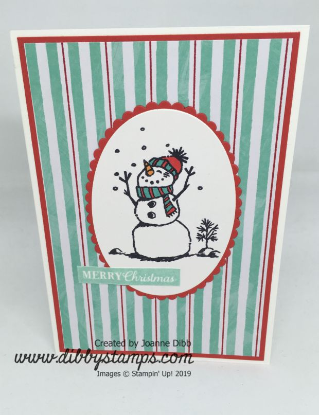 Snowman Stripes Card