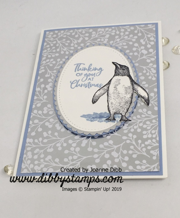 Thinkingof you christmas penguin flat